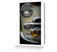 Buick Business Coupe in Cream Greeting Card