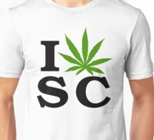 I Love South Carolina Marijuana Cannabis Weed T-Shirt Unisex T-Shirt