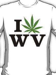 I Love West Virginia Marijuana Cannabis Weed T-Shirt T-Shirt