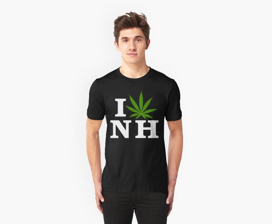 I Love New Hampshire Marijuana Cannabis Weed T-Shirt by MarijuanaTshirt