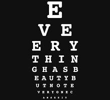 20/20 Vision or something else? -White lettering Unisex T-Shirt