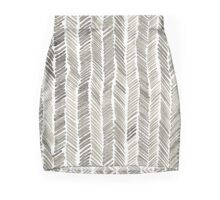 Watercolor Brushstroke Chevron  Mini Skirt