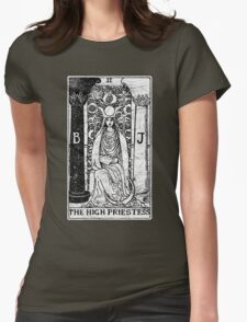 The High Priestess Tarot Card - Major Arcana - fortune telling - occult Womens Fitted T-Shirt