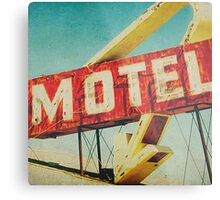 Thrashed Motel Sign Metal Print