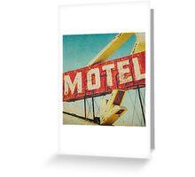 Thrashed Motel Sign Greeting Card