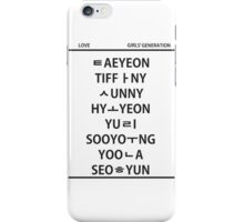 GG member hangul iPhone Case/Skin