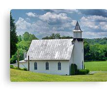 Dry Run Country Church Canvas Print