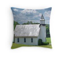 Dry Run Country Church Throw Pillow