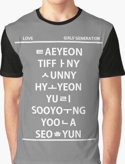 SNSD member hangul Graphic T-Shirt
