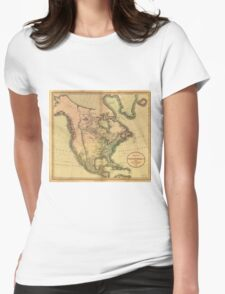 Map of North America by John Cary (1811) Womens Fitted T-Shirt