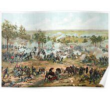 Battle Of Gettysburg -- American Civil War Poster