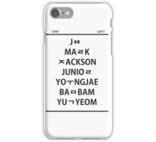 GOT 7 member hangul iPhone Case/Skin