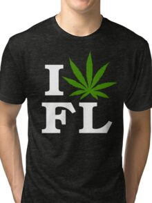 I Love Florida Marijuana Cannabis Weed T-Shirt                                          Tri-blend T-Shirt