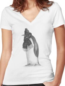 South Pole Essentials  Women's Fitted V-Neck T-Shirt