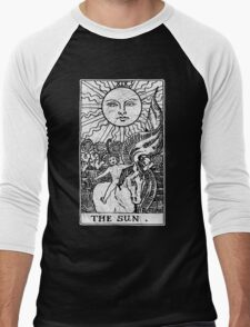 The Sun Tarot Card - Major Arcana - fortune telling - occult Men's Baseball ¾ T-Shirt