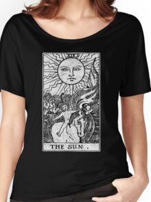 The Sun Tarot Card - Major Arcana - fortune telling - occult Women's Relaxed Fit T-Shirt