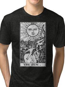 The Sun Tarot Card - Major Arcana - fortune telling - occult Tri-blend T-Shirt