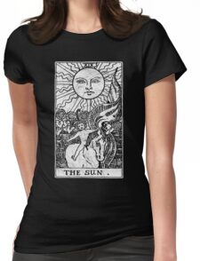 The Sun Tarot Card - Major Arcana - fortune telling - occult Womens Fitted T-Shirt