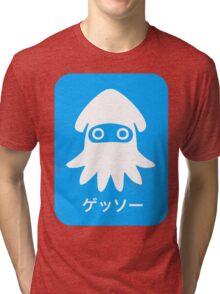 Blooper Blue Tri-blend T-Shirt