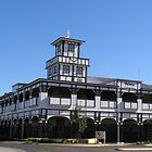 The Iconic 'Victoria Hotel' Marshall St. Goondiwindi, Queensland. Aus. by Rita Blom