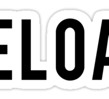 RELOAD! black Sticker