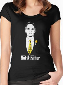 Not-A-Father (Ducky Tie Variant) Women's Fitted Scoop T-Shirt