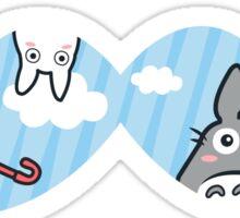 Totoro Mustache Sticker