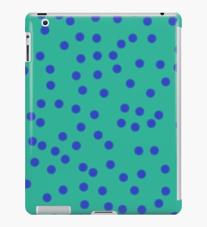 Blue On Green iPad Case/Skin