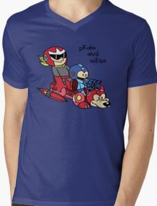 Proto and Mega Mens V-Neck T-Shirt