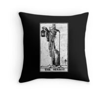 The Hermit Tarot Card - Major Arcana - fortune telling - occult Throw Pillow