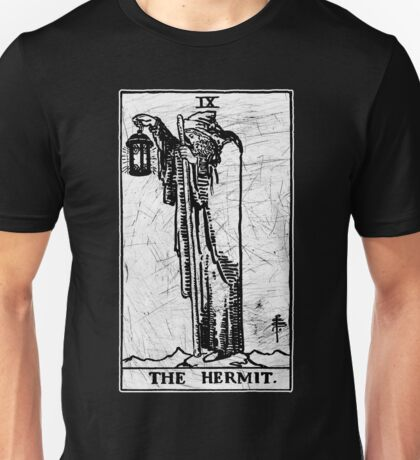 The Hermit Tarot Card - Major Arcana - fortune telling - occult Unisex T-Shirt