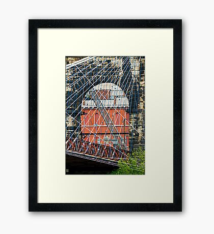 Wheeling Suspension Bridge East Tower Framed Print