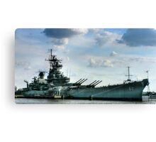 USS Battleship New Jersey Canvas Print