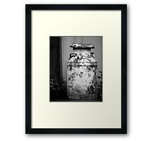 Vintage Rustic Milk Can black and white photography Framed Print