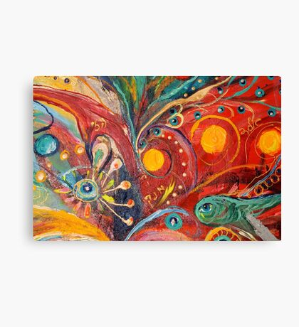 Original painting fragment 14 Canvas Print