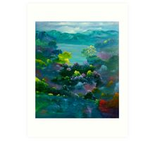Blue Mountain Valley Art Print