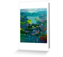 Blue Mountain Valley Greeting Card