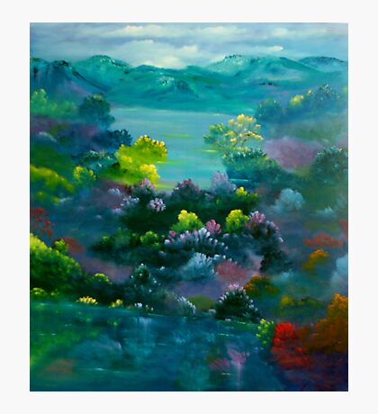 Blue Mountain Valley Photographic Print