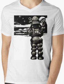 Robby the Robot 2 Mens V-Neck T-Shirt