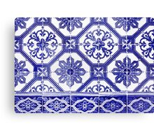Portugese blue tiles Canvas Print