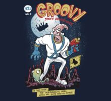 Groovy Space Adventures Kids Tee