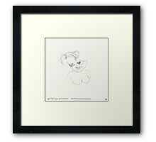 Night & Nap Drawings 87 - Little girl ? - eyes closed - 31th July 2013 Framed Print