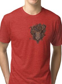Stag with endless Celtic knot Tri-blend T-Shirt