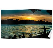 sunset at maschsee Poster