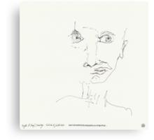 Night & Nap Drawings 90 - Choking ? - eyes closed - 31th July 2013 Canvas Print