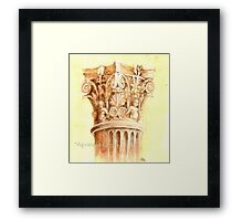 Architecture: antique column Framed Print