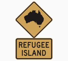 REFUGEE ISLAND sticker by flashman