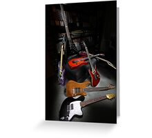 Ibanez and ESP Electric Guitars Greeting Card