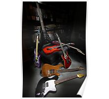 Ibanez and ESP Electric Guitars Poster