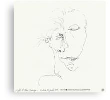 Night & Nap Drawings 91 - Missing ? - eyes closed - 31th July 2013 Canvas Print